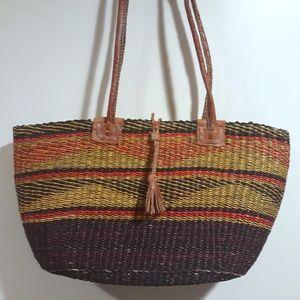 Vintage Natural Woven bag